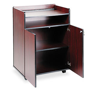 Safco® Executive Mobile Presentation Stand, Mahogany