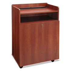 "Safco Executive 29 1/2"" Mobile Presentation Stand, Cherry"