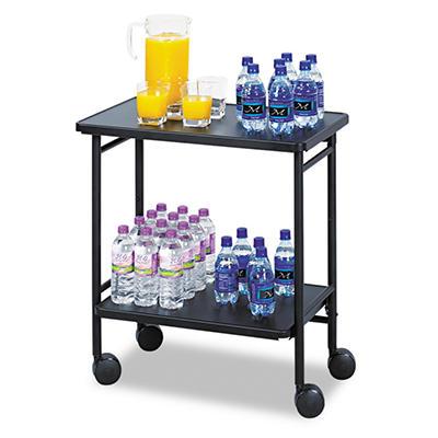 Safco® Fold-Away 2-Shelf Beverage Cart - Black
