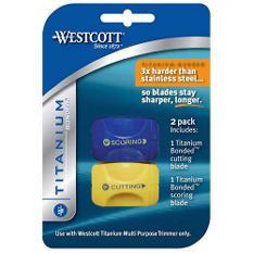 Westcott Titanium Trimmer Blades - 2 pk.