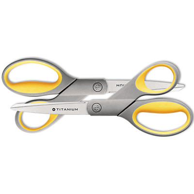 """Westcott 8"""" Straight Titanium Bonded Scissors (2 ct.)"""