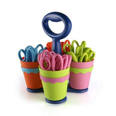 "Westcott Scissor Caddy including 5"" Blunt-Tip Scissors w/Microban (24 Count)"