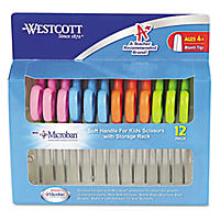 "Westcott 5"" Kid's Blunt-Tip Scissors w/Microban (12 Count)"