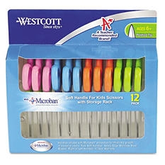 "Westcott 5"" Kid's Pointed-Tip Scissors w/Microban (12 Count)"