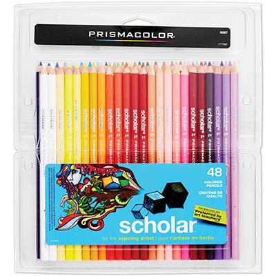 Prismacolor - Scholar Colored Woodcase Pencils -  48 Assorted Colors/Set
