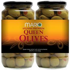 Mario® Stuffed Queen Olives - 2/21 oz jars