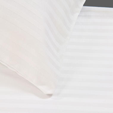 Riegel 300TC Satin Stripe Full Flat Sheet - 12 pk