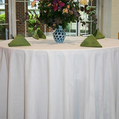 "Riegel 132"" Round Seamless Tablecloth - White - 3 pk."