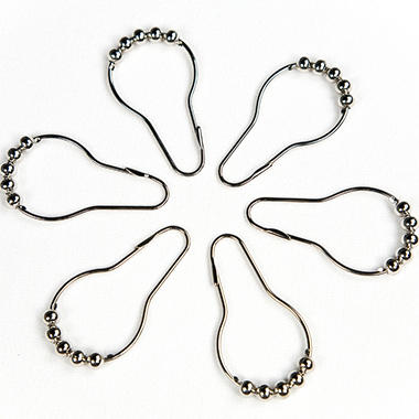 Riegel Nickel-Plated Shower Curtain Hooks - 72 ct.