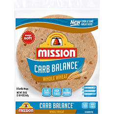 Mission Carb Balance Large Whole Wheat Tortillas (8 ct.)