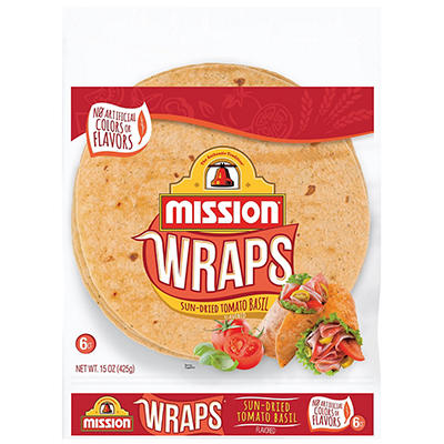 Sun-Dried Tomato Basil Wraps - 15 oz. bag - 6 ct.