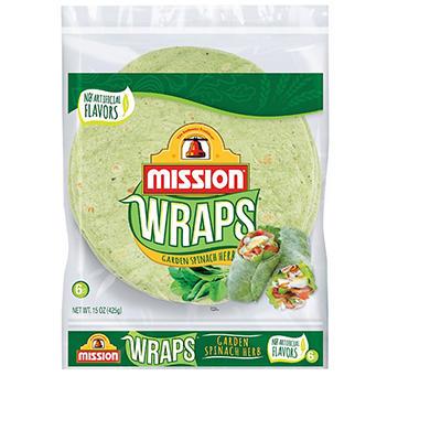 Mission Garden Spinach Herb Tortillas - 6 ct. - 15 oz. bag