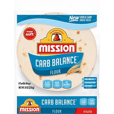 Mission Fajita Flour Tortillas - Carb Balance Small - 8 ct. - 8 oz. bag