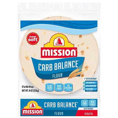 Mission Fajita Flour Tortillas - Carb Balance Small - 8 ct. - 8 oz. bag