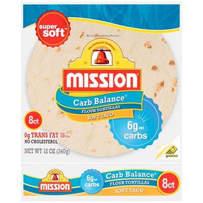 Mission Foods Carb Balance Flour Tortillas (8 ct., 12 oz.)