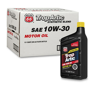 Trop Artic 10W30 Synthetic Blend Motor Oil - 1 Quart Bottles - 12 pack