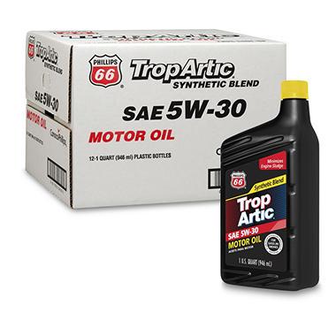 trop artic 5w 30 synthetic blend motor oil 1 quart
