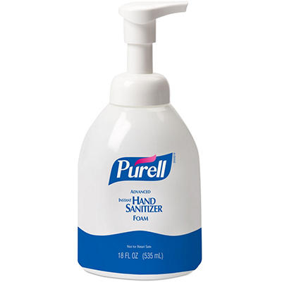 Purell Advanced Non-Aerosol Foaming Hand Sanitizer with Moisturizer Pump Bottle - 18 oz.