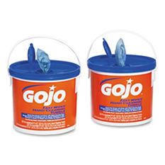 GOJO - FAST WIPES Hand Cleaning Towels, 9 x 10, White, 225/Bucket -  2 Buckets/Carton