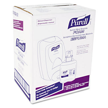 Purell FMX-12 Foam Hand Sanitizer Dispenser Kit with 1200ml Refill - White