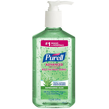Purell Instant Hand Sanitizer with Aloe Pump Bottle - 12 oz.