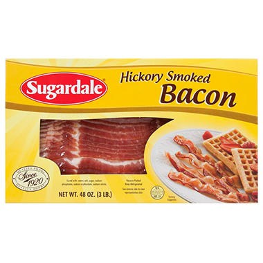 Sugardale Sliced Bacon 1 lbs. - 3 pks.