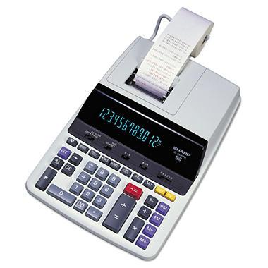 Sharp 12-Digit 2-Color Printer/Display Calculator