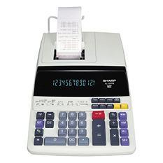 Sharp - EL1197PIII Two-Color Printing Desktop Calculator, 12-Digit Fluorescent - Black/Red