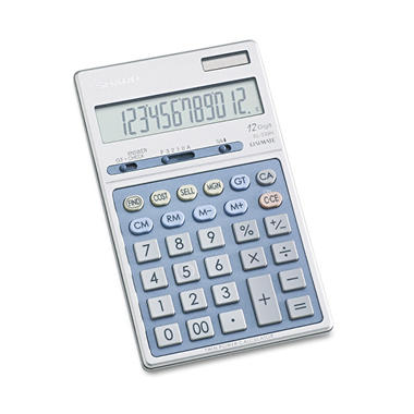Sharp EL339HB Executive Portable Desktop/Handheld Calculator, 12-Digit LCD
