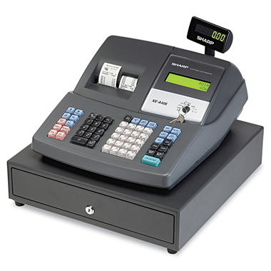 Sharp Cash Register, Thermal Printing, Dual Roll Register Tape, 2-line Display