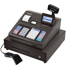 Sharp - XE-A507 Cash Register, 7000 LookUps, 99 Dept - 40 Clerk with Hand Scanner