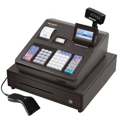 Sharp - XE-A507 Cash Register, 7000 LookUps, 99 Dept - 40 Clerk with Hand Scanner