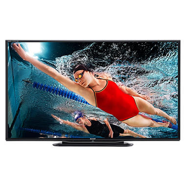 "60"" Sharp Aquos LED 1080p 240Hz Smart HDTV w/ Wi-Fi and Quattron  Color Technology"