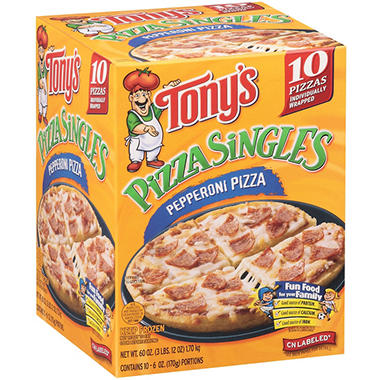 Tony's Pizza Singles Pepperoni Pizza - 10/6 oz.