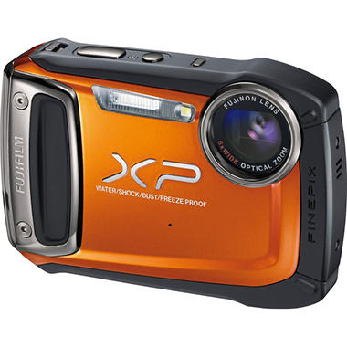 *Instant Savings*  Fujifilm Finepix XP100 14MP Waterproof Digital Camera - Orange