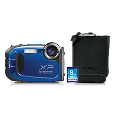 Fuji XP60 Waterproof Camera Bundle with SD Card and Case - Various Colors