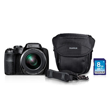 *$279.88 after $20 Tech Savings* Fuji FinePix S9200 16.2MP CMOS Bundle with 50x Optical Zoom, Camera Case, and 8GB SD Card