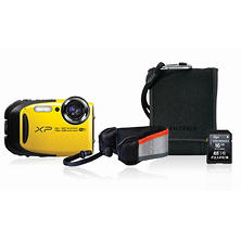 FUJIFILM FinePix XP80 16.4MP CMOS Waterproof Digital Camera Bundle with Action Case, and 16GB SDHC Card - Various Colors