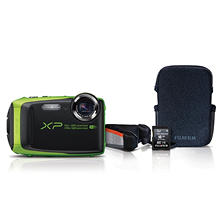 FUJIFILM FinePix XP90 Waterproof Digital Camera Bundle, 16.4MP CMOS with 5x Optical Zoom
