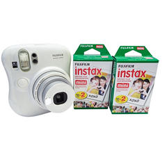 FUJIFILM Instax Mini 25 Instant Camera Bundle with 40ct Instant Film Pack