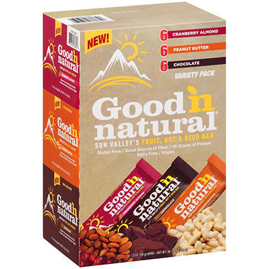 Good 'N Natural� Sun Valley's Fruit, Nut & Seed Bar Variety Pack - 2 oz. - 18 ct.