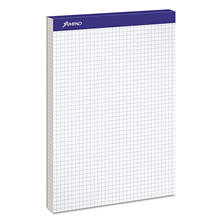 Ampad Double Sheet Quad Pad - Letter - White - 100-Sheet Pad