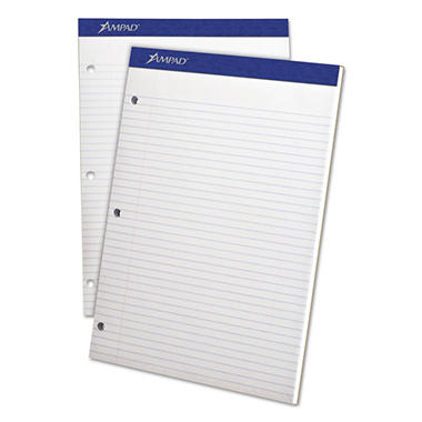 Ampad Evidence Pad -  Dual College/Med Ruled -  8 1/2