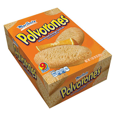 Marinela Polvorones Shortbread Orange Cookies - 1 lb. 7.81 oz. - 9 pk.
