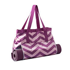 Lotus Yoga Tota and Mat, Purple and Pink