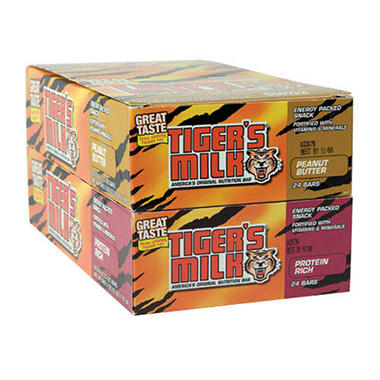 Tiger's Milk Nutrition Bars - 48 ct.