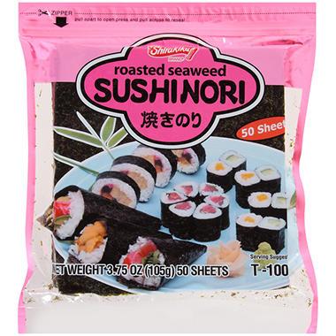Shirakiku Roasted Seaweed Sushinori (50 ct.)