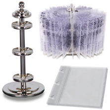 "Clear Stamp Revolving Holder - w/ 10 Sleeves 9.5""H"