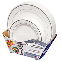 Masterpiece Premium Plastic Heavyweight Plates (48 ct. Combo pk.)