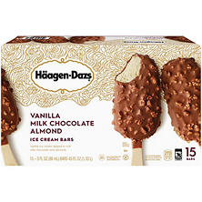 Häagen-Dazs Vanilla Milk Chocolate Almond Ice Cream Bars (15 ct.)
